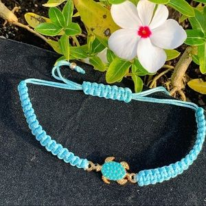 Baby blue sea turtle bracelet